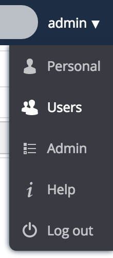 Add your own admin user - change to the user admin panel
