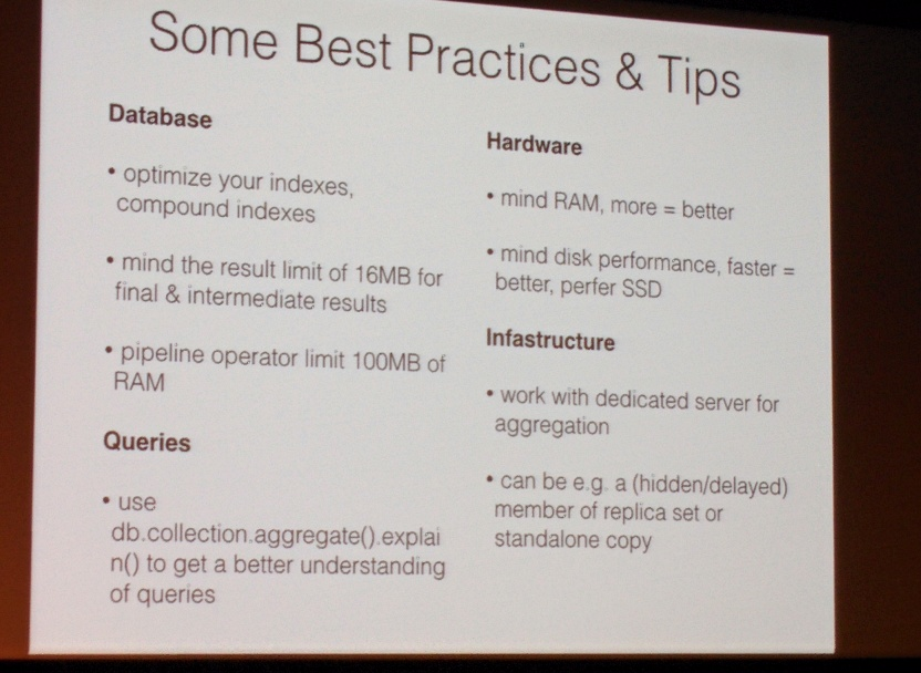 MongoDB best practices and tips