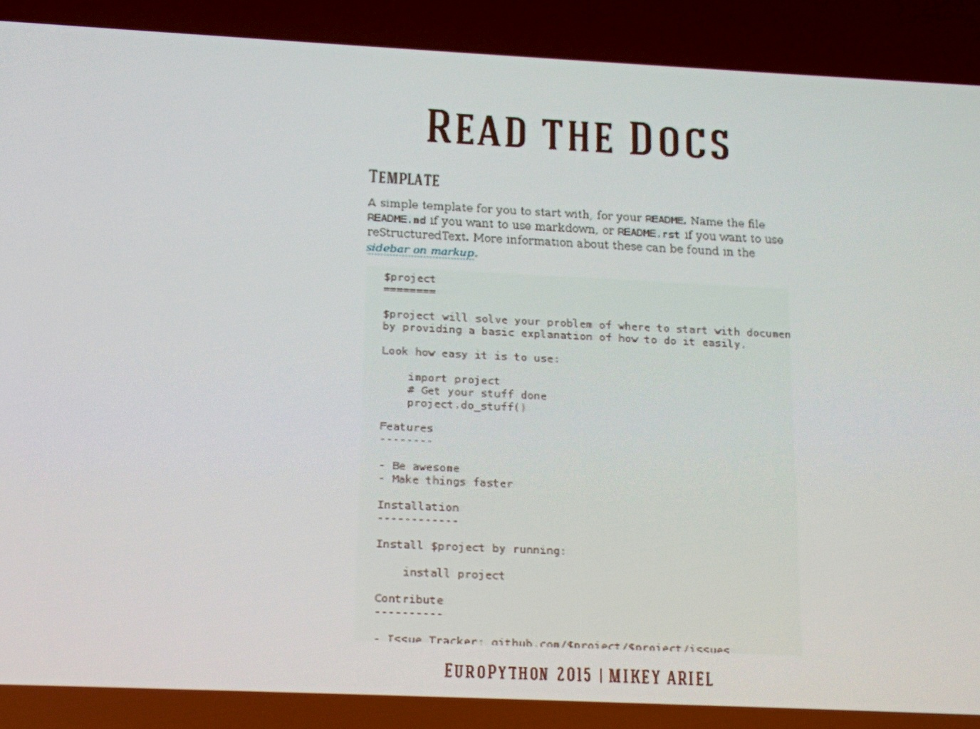 Readme.md basic example